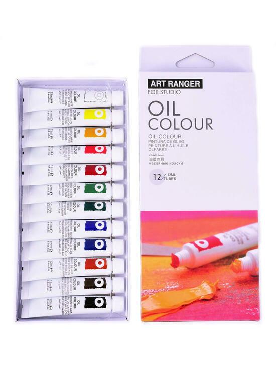 Тип товара Масляные краски «Две картинки» 12 шт. по 12 мл, проф. пигмент