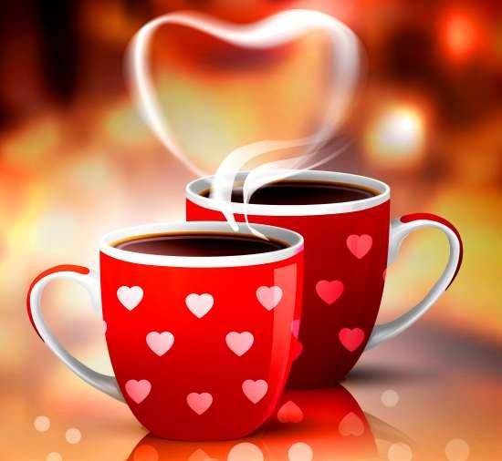 Картина по номерам 40x50 Любовный кофе
